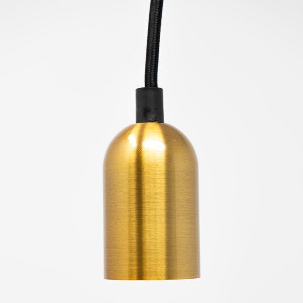 Antik E27 SLEEK Pendant Fitting - Satin Gold Effect
